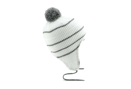 Coal Clayton Flap Beanie - Unisex - white, one size