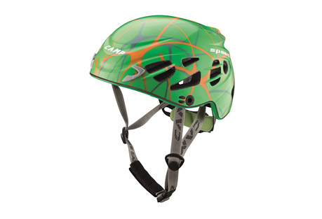 camp usa speed 2.0 helmet- Save 25% Off - The Speed helmet was designed specifically for competitive ski-mountaineering and climbing at the highest levels. The profiled fit combines with the minimal weight for a helmet that climbers and skiers often say they forget they are even wearing. A new external polycarbonate shell reduces the amount of exposed structural Styrofoam for improved durability and 22 streamlined vent holes make it exceptionally cool when moving fast in the mountains or climbing in warm conditions.  Features:  - One of the lightest helmets in the world  - In-mold construction  - Shell Material: Polycarbonate  - 22 streamlined vent holes for excellent ventilation  - Headlamp compatible  - Simple and secure dial adjustment system  - EN 12492 certified  - Weight: 268 g, 9.5 oz  - Size: 56-62 cm, 22-24.4 in