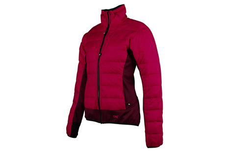 cirq may down jacket - women's- Save 75% Off - This premium down hybrid jacket is intended as a midlayer that provides powerful down insulation just where you need it. Tech fleece panels are strategically placed to allow moisture to evaporate and to provide premium stretch for a full range of motion. Pair the May Down Jacket with a shell jacket to stay fast and light on your next alpine expedition.   Features:  - 90/10 Premium Goose Down  - 700 Down Fill Power  - Shell: 2OD 100% Polyester Down Proof Mini Ripstop (Camo: 100% Nylon Down Proof Mini Ripstop)  - Teflon DWR Coating   - Tech Fleece: 100% Polyester  - Brushed Tricot Lined Chin Guard  - Discrete Thumb Holes  - Elastic Waistband  - 2 Zipper Handwarmer Pockets  - 1 Zipper Chest Pocket  - YKK Premium Zippers