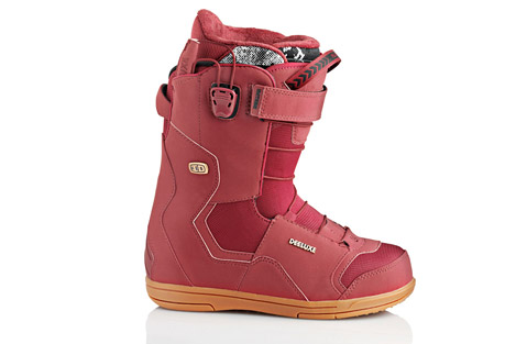 deeluxe id 5.2 pf snowboard boots 2015- Save 58% Off - From pillow lines to the park, Deeluxs' best selling boot is perfect for all mountain freestyle. From the waterproof construction to the D-Lug outsole your feet will be happy riding out and about in this boot!   Features:  - Pro Flex Construction creates a high performance freestyle flex.  - D-Lug outsole cushions and cradles your feet while its lugs act like suspension and dampen vibrations.  - Dupont(R) Surlyn Highback: The highback contributes to the durability and stability of the boot. Combined with additional reinforcements, the highback also aids in dictating its stiffness.  - Waterproof Construction: Precise stitching and a sandwich construction ensure water can't penetrate the boot's shell. After all, a dry foot is a happy foot.  - Powerstrap: By securing the calf in place, the Powerstrap adds additional support to a boot's lacing  system.  - Section Control  Lacing: Two handles allow you to adjust the boot's lacing system and its three target zones.  - The D-Lug outsole provides a sneaker-style appearance, enhanced board feel, and aids in preventing injuries.  - Performance Flex Liner: designed to offer premium performance and optimal support.The highback provides stability while L-shaped pads anchor the heel.  - Sizes represented in Mondo Point  - 2015 Model Year  Size Chart