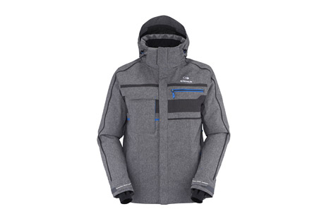 Eider Lillehammer Jacket 2.0 - Men's: Save 57% Off - Skiers who are cold-sensitive will appreciate the Lillehammer's intelligent thermal design, mixing duck down along the back and body mapped synthetic insulation through the rest of the jacket. Its full set of ski features combined with its classic alpine style and sophisticated twill finish, have made the Lillehammer one of Eider's most popular resort ski jackets.  Features:  - Adjustable & removable hood with Plug in System  - Zipped front opening under flap  - Underarm ventilation with dual-covered zippers  - Hand zipped pockets under flap  - 2 chest pockets: one with waterproof zipper and one zipped under flap  - Skipass zipped pocket under flap  - Zipped inside pocket with a phone pocket and earphone cable opening  - Goggle pocket with integrated lens cleaner  - Snow gaiter with nonslip band  - Knitted stretch cuffs with thumb holes  - Adjustable hem with elastic drawcord  - Fabric:  Defender Discovery 2L 10k/5k, 100% PES  - Dual Thermal System: E-loft Down - E-loft 120g - 80g  - Downproof light Ripstop - Cormax  - All sealed-seams