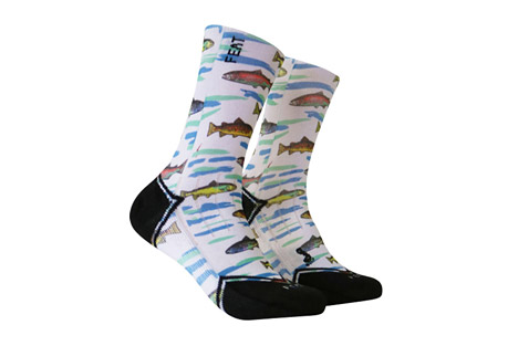 feat gone fishing again socks- Save 53% Off - We went fishing, caught a lot, so now we're going again! These are the perfect gifts for those looking for fish socks for men! They are the best novelty fishing gifts! Made from a 95% Polyester / 5% Spandex Blended fabric. Buy these stylish socks!  Features:  - 95% Polyester / 5% Spandex Blend  - Comfort and vibrant colors that don't fade!  - Ankle height  Sizing:  - Small: Women 5-10, Men 4-9  - Large: Women 10+, Men 9+