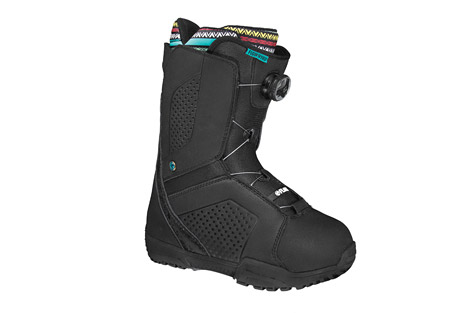 flow hyku coiler boa snowboard boots 2015 - womens- Save 11% Off - Giving you a top-notch boot at a great price is just one of the items on our to-do list that we can check off. The all-NEW Hyku is here for your taking. If you only ride a few days a year or you are a weathered daily rider, the Hyku is sure to perform to your expectations. The BOA Coiler closure system is tried and true for the easy in and out that you hope to have and the broke-in feel right out of the box is sure to please. The 3D tongue and toe is comfort at it's best and the Thermo-Lite outsole is soft and supple to ensure to keep your feet happy after plenty of on-hill action.  Features:  - Lacing: Std BOA H3  - Outsole: Thermo-Lite Rubber  - Insole: Molded EVA  - Liner: 1 Feather  - Antimicrobial Coating  - 3-d Molded Tongue and Toe  - Micro Articulating Instep  - 2014/2015 model year