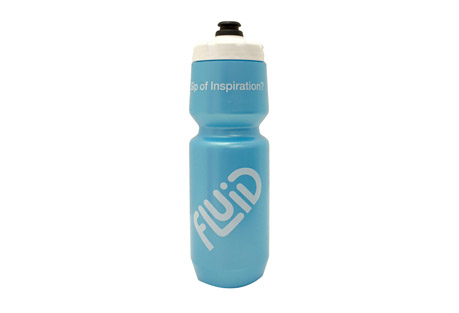 fluid purist water bottle - 26oz- Save 41% Off - Made by Specialized Bicycles, these are the best water bottles in the industry. They are 26oz bottles with wide mouth opening for ice cubes or Fluid scoopers! These are the perfect bottle for your bike, backpack, or gym bag. Fluid bottles are indeed BPA FREE, LDPE #4 Food grade plastic. No harmful chemicals leaching from these babies! Bottle, cap, and poppet fully comply with FDA and European health standards, California Prop 65 and Japan Food Hygiene regulations.  Features:  - The Purist(TM) inner surface uses a flexible glass-like infusion to keep your water pure and your bottle clean  - Large screw-top design is leak-free and wide enough for ice cubes and powder drink mix  - New MoFlo cap design features a wide water channel to deliver up to 50% greater flow than other leading bottles, plus improved functional outside grip  - Made from easy-to-squeeze, LDPE material  - Clear viewing strip makes it easy to see contents  - BPA-free plastic made from 100% FDA food-grade materials and printed with non-solvent base (UV cured), CPSC-approved ink and materials
