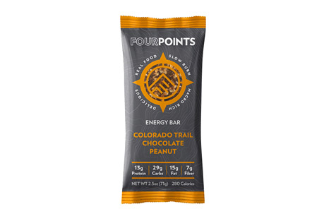 A week or two on the Colorado Trail will test you, reward you, and definitely reset you. Before that inevitable thunderstorm chases you across the alpine plane, make sure you stop to fuel up with this trail tested chocolate peanut butter cup...that is, chocolate peanut energy bar. The roasted peanut, sea salt, vanilla and cacao may invoke an eye closing satisfaction, but don't worry, the rush of energy...and the flash of lightning will keep those eyes open and those legs moving. Features: - Box of 12 bars - 280 calories per bar - No preservatives or added sugar - Gluten and soy-free Ingredients: - Dried Plums, Figs, Toasted Peanuts, Cacao Nibs, Non-rBGH Whey Protein Isolate, Cashews, Hemp Seeds, Almonds, Ground Flaxseed, Sunflower Lecithin, Vanilla Bean, Sea Salt. - Contains: Milk, Almond, Cashew, Peanut. Made in a facility that also processes peanut, soy, wheat, egg, and dairy products.