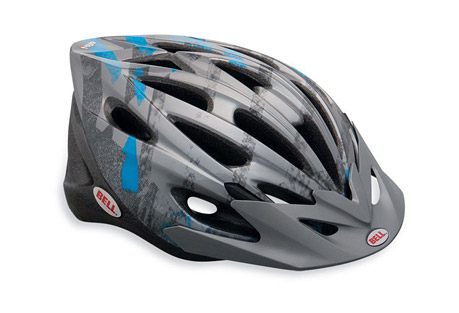 Bell Alibi Helmet - Youth - titanium/blue line, adjustable/ universal youth 50-57cm