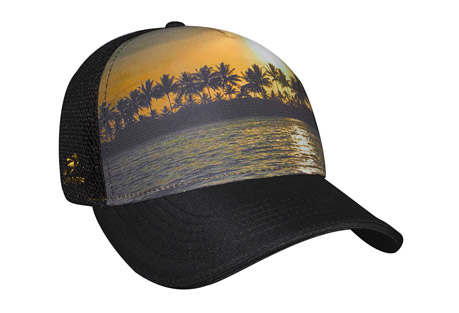 headsweats beachy 5-panel trucker hat - women's- Save 54% Off - If you're looking for a custom mesh trucker hat that you can wear on vacation, or a performance hat that you can wear at the gym, then this 'Beachy' Trucker might just be the perfect choice for you. This snapback trucker hat is made of Eventure(TM) woven and stretch fabrics, making it lightweight and breathable, and it will fit comfortably and dry quickly every time you wear it. The vibrant beach design and unique sublimation will make your friends ask where you got your cool new trucker hat. The terry sweatband wrapped in Eventure knit will keep the sweat off out of your eyes, you're sure to love wearing this hat on the beach, on the trail, or wherever life takes you. Order your new trucker hat today!  Features:  - Traditional 5-panel Trucker styling  - Eventure woven shell  - Eventure terry sweatband wrapped in Eventure knit  - Eventure sandwich stretch mesh back  - Black undervisor to reduce glare  - Snap back closure with ponytail opening  - One size fits most