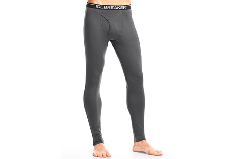 icebreaker oasis leggings with fly - men's- Save 40% Off - The men's Oasis Leggings with fly make cool weather sports better, day after day. Crafted from ultra soft, breathable 200gm merino jersey, they provide enough warmth under a pant for really cold days in winter sports, but breathe well enough for morning runs in the fall or hiking high in the mountains. Flatlock seams and a brushed waistband eliminate chaffing, and because merino resists odor naturally, they are ideal for multi-day adventures.  Features:  - 100% Merino wool  - Slim fit   - Merino naturally keeps you warm in cold weather and cool in warm weather  - Absorbs and releases vapour to prevent overheating and clamminess  - Merino gives you extra protection against the sun's harmful rays, naturally  - Naturally anti-bacterial, it can be worn for days without washing  - Functioning fly  - Flatlock seams prevent chafing  - No center back seam for layering and comfort  - Icebreaker branded brushed elastic waistband  Size Information  - S:  Waist 30.5in  - M:  Waist 33.25in  - L:  Waist 36in  - XL:  Waist 38 3/4in  - XXL:  Waist 41 1/2in