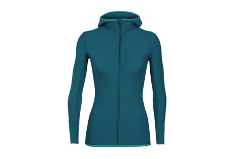 Icebreaker Descender LS Zip Hood - Women's