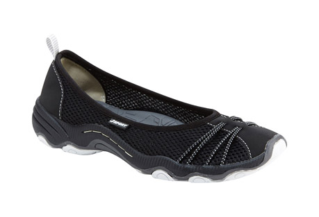 j-sport spin encore slip-on's - women's- Save 46% Off - All the style of a ballet flat, with the added benefits of all-day cushioning and breathability. With lightweight mesh and vegan microbuck around your feet, the Spin Encore's elegant silhouette is rugged enough to handle any warm-weather treks you may embark on. A quick-drying, open mesh upper lets you wear the Spin Encore in and out of the water as well.  Features:  - Mesh/Microbuck upper  - Partially recycled rubber All-Terra outsole  - Antibacterial footbed  - Water Ready  - Slip on  - Weight: 6.83 oz