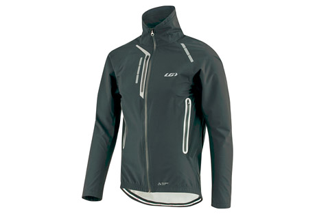 louis garneau neoshell jacket - men's- Save 40% Off - Louis Garneau Men's Size Chart  Through partnership with Polartec(R), Louis Garneau has created a completely waterproof jacket that acts as a hardshell yet has the ventilation, stretchability, and softness properties of a softshell. With completely waterproof features such as a full length reversed waterproof zip lined with an inner flap, sealed seams, velcro-adjustable wrists and a silicone gripper, this jacket is reliable in the wettest of conditions. The collar is crafted in a soft 2.5 ply fabric with a polyurethane membrane so it remains waterproof while maintaining comfort against the skin. When fully zipped, the zipper is housed in a garage to eliminate neck irritation. Multiple storage options are also weather-proofed, including a chest pocket and back pocket which are both finished with waterproof zips. And of course, no cycling gear designed for the off-season and fewer daylight hours is complete without front and back reflective accents that enhance visibility.  Features:  - Waterproof and breathable fabric: Keeps you dry inside and out  - Full length reversed waterproof zip: Protects from the elements  - Sealed seams: Keep you dry  - Inner flap: Increases protection against the wind  - Zip garage: Prevents neck irritation  - Soft collar top: Enhances comfort during activities  - 1 chest pocket with waterproof zip  - 1 back pocket with waterproof zip: Offers safe storage and seals the opening  - Strategically placed vents with waterproof zips:   - Evacuate moisture and provide ventilation  - Articulated elbows  - Velcro adjustable wrists: Maintain fit and add protection  - Signature silicone gripper at hem  - Front and back reflective accents  - Polartec(R) Neoshell(R): Waterproof, highly breathable  - Extenz: Stretchable and waterproof
