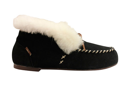Dije by Lamo Sasha Booties - Women's: Save 57% Off - The Sasha Booties are lined with ultra soft Australian sheepskin.  The suede upper features a moccasin toe for additional comfort.  A rubber sole make these slippers durable and sure footed.  Features:  - Suede upper  - Moccasin toe  - Australian sheepskin lining and cuff  - Rubber sole