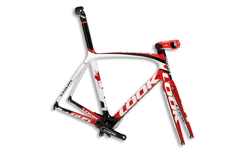 look cycle 695 premium canada flag frameset - 2013- Save 56% Off - LOOK 695: a frame offering unequaled cycling precision thanks to the integration of the stem, the headset, the fork and an exceptional performance thanks to its crankset.The 695 puts the CFD (Continuous Fibre Design) in application: the shape of the tubes is studied so that the carbon fibers work along the best axis, optimizing their mechanical performance. The ZED 2 crankset, the frame's nerve center, is the culmination of 5 years of research, was tested by athletes and validated at the Beijing Olympics. It brings a new world record to the weight/rigidity performance. The 695 version brings some flexibility for racers looking for a bike with a more flexible and less demanding behavior. This version will be more adapted to cyclists covering long distances.  Features:  - CARBON TYPE: HM 110 G / M ULTRA LIGHT HIGH MODULUS.  - FORK: HSC 7 - 295 GRS  - LUGS: MONOBLOC CONSTRUCTION  - BOTTOM BRAQUET: ZED SPECIFIC 65 MM  - CRANKSET: ZED 2 COMPACT (110 MM) OR DOUBLE (130 MM) COMPATIBLE CRANK ARM LENGTH ADJUSTABLE= 170, 172,5, 175 MM. (DELIVERED WITH HARDWARE BUT WITHOUT CHAINRINGS)  - FRONT DERAILLER HANGER: BRAZED ON  - STEM: Not Included  - SEAT POST: Not Included  - HEAD FIT: HEADFIT 3 INTEGRATED HEADSET 11/8