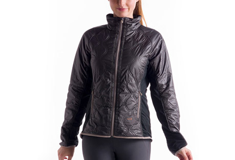 lole glee jacket - women's- Save 41% Off - This sleek, quilted-front beauty puts the heat on your winter workout! It's made to play in the windproof Cire Wind, a 100% polyester fabric with a subtle sheen. The durable water-repellent finish makes rain and snow roll off your shoulders, the Printed Lush sides adds breathability and the Thermaglow? Lite insulation keeps you warm without bulk.   Features:  - Quilted jacket   - Center-front zip   - Stand-up collar   - Two zippered hand pockets   - Binding finish at hem and sleeve opening   - Printed Lush at sleeves and sides for comfort and breathability   - Thermaglow? Lite insulation (front)   - Reflective tapes   - Length: 25 in./62.5 cm