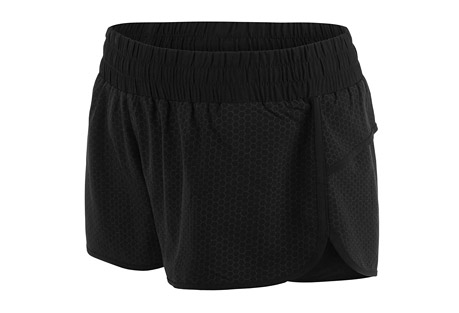 lorna jane motivate run short - women's- Save 50% Off - Lorna Jane Size Chart   You won't go unnoticed in this relaxed fit run short. Featuring an all over reflective pattern, the curved hem allows for all round movement and the thoughtfully designed internal modesty knickers won't leave you feeling exposed. Time to get moving!  Features:  - Made from performance LJ Excel(TM) fabric  - Moisture wicking and breathable to keep you cool and dry when you work out  - Quick drying for comfort and convenience  - Shrink and fade resistant designed to withstand the test of wash and wear  - Internal drawcord  - Zip pocket to stash your essentials   - 88% Polyester 12% Elastane