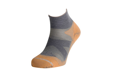 Lorpen Merino Shorty Ultra Light Hiker Socks - Mens - grey/orange, medium