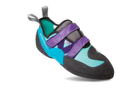 mad rock lyra shoe - womens- Save 27% Off - The Lyra is the best choice for doing it all with just one shoe. With a slightly concave sole and rubber on the toe for toe-hooking, a precise fit and feel make the Lyra model a great choice for an all-around performance shoe. The Lyra can tackle anything from boulders, to El Cap free routes.  Features:  - Recommended uses: Bouldering, Sport, Gym, Competition, Crack Climbing  - Center midsole stiffness: Medium-soft  - Edge midsole stiffness: Medium  - Glove-like fit