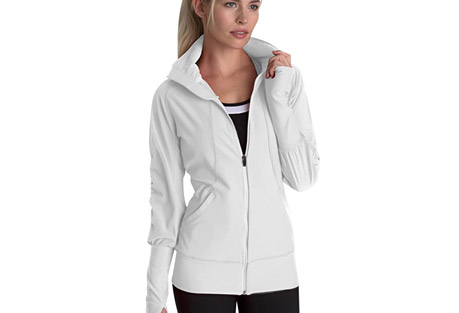 mpg revive run jacket - women's- Save 57% Off - MPG Women's Size Chart  Mixed media run jacket in MPG's geo run print as well as several colorways. Combining knit, woven and geo mesh, the Revive is the runner's jacket. Stretch woven sleeves and ventilating back panel with geo mesh underlay. Taping details on sleeves are feminine while 360 reflectivity provides safety during night runs. Zippered front pockets for easy-access storage. Wide sleeve cuffs with thumbholes. Moisture wicking. Locking zippers remain in place. Heat press reflective logo.  Features:  - Main Body: Performance Jersey - 88% Polyester, 12% Spandex  - Sleeves and Center Back: Stretch Woven - 95% Polyester, 5% Spandex  - Back Vent: Geo Mesh - 90% Polyester, 10% Spandex  - Stretch woven sleeves and back panel  - Center front zipper with and side pockets with custom MPG locking pulls  - Vented centre back panel with geo mesh underlay for natural cooling  - Wide sleeve cuff with thumbhole feature  - Mesh taping along sleeves and back collar with reference underlay  - High visibility logo