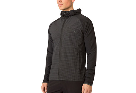 mpg off the grid run jacket - men's- Save 57% Off - MPG Men's Size Chart  An intuitive design, this middle weight jacket is finished in a flex woven fabric for ultimate comfort. A mesh liner and ventilation in the back and under the arms prevent overheating. Smart design elements include a hood that's easily secured in place, 360-degree reflectivity for night runs, and a water-resistant membrane to keep you dry.  Features:  - Multi storage pockets  - Water resistant   - Back and arm ventilation  - Hood can be rolled down and tabbed in place  - 360 reflectivity  - Cinchable hood and hem  - Mesh lined interior  - Main Fabric: Stretch Woven 88% Nylon 12% Spandex  - Trim: Flex Woven 84% Polyester 16% Spandex  - Lining: Woven Mesh 100% Polyester