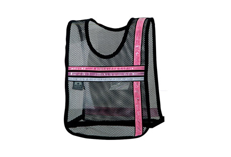 Nathan Tri Color Pink Ribbon Vest - pink, adjustable