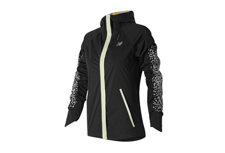 new balance beacon jacket - women's- Save 33% Off - New Balance Women's Apparel Size Chart  You run no matter the conditions, so you should enjoy the ultimate running jacket. The New Balance(R) Beacon Jacket is a waterproof 2.5 layer shell with innovative and stylish NB GLOW trim and bonded reflective print to provide 360deg of visibility at night. An internal knit cuff with thumbhole and adjustable hood with visor prepares you for anything that comes your way. Zippered hand and chest pocket store essentials for a match made in running heaven.  Features:  - 100% Polyester  - Waterproof 2 Layer Shell  - Taped seams with glow trim on front and glow logo down back  - NB Dry Moisture wicking releases moisture away from the body and is fast drying  - Fully constructed hood with visor  - Chest and hand pockets  - Knit gaiter with thumbholes  - Reflective design  - Athletic Fit
