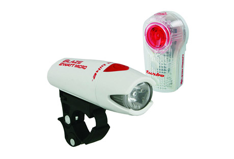planet bike blaze 2 watt micro / superflash light set- Save 30% Off - High and low power beam along with Superflash flashing mode. Up to 64 hours run time (flashing) on 2 AA batteries included. QuickCam bracket mounts, adjusts or removes without tools.  Features:  - 1 Watt Power LED plus 2 red LEDs for visibility up to 1 mile  - Attention-grabbing Turbo flash pattern even in day light  - Optimized electronics yield greater durability  - Improved burn time and light output as batteries fade  - Soft touch button has affirmative feel, even with gloves on  - Up to 100 hours of run time on 2 AAA batteries included  - Lumens: 146