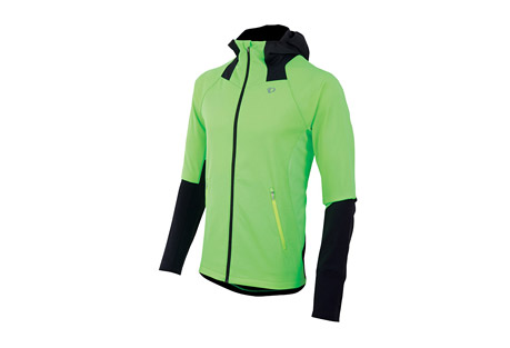 pearl izumi fly softshell run hoody - men's- Save 53% Off - Pearl Izumi Apparel Size Chart Ruthless winter wind has met its match. This Thermal Windblocking hoody offers outstanding protection, its wind resistant construction is complete with a draft flap and internal fist mitts to keep out the cold.  Made of stretch thermal fleece, it provides freedom of movement and is quick drying and breathable for athletic performance.  Features:  - Stretch Thermal Windblocking fabric provides optimal wind protection, warmth, and breathability for high aerobic outputs  - Thermal Fleece fabric strategically paneled to deliver superior breathability, moisture transfer and warmth  - 2 zippered hand pockets keep your fingers warm, while providing storage for small essentials  - Form fitting Thermal Windblocking hood offers outstanding protection without inhibiting your field of view  - Full-length internal draft flap with zipper garage keeps cold air out  - Internal fist mitt seals in warmth  - Main body: 100% polyester  - Jacket weight: Size Medium: 16 oz / 469 g  - Last Chance:  Discontinued Style