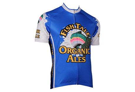 retro image apparel two fishtale jersey - mens- Save 64% Off - There is no better way to represent your brew than wearing it on your ride! Make sure you are seen with this Fishtale Jersey.   Features:  - Ultra-soft Euro-mesh fabric for maximum comfortAIRpass Pro+ moisture-wicking, quick-dry technology  - AIRthrough Mesh side panels for maximum breathability & 4-way stretch  - 30+ SPF UV Protection  - Hidden, full-length YKK-brand zipper, known worldwide as the most reliable trouble-free zipper  - Silicon gripper band keeps rear of jersey in-place as you ride  - 3 rear pockets with reinforced stitching  - Vibrant, dye-sublimation printing keeps colors bright and true, wash after wash
