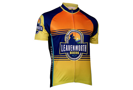 retro image apparel two leavenworth biers jersey - mens- Save 61% Off - This jersey has everything you need and more! With bright vibrant colors and all the comfort of 4-way stretch, this jersey will easily become your favorite!  Features:  - Ultra-soft Euro-mesh fabric for maximum comfortAIRpass Pro+ moisture-wicking, quick-dry technology  - AIRthrough Mesh side panels for maximum breathability & 4-way stretch  - 30+ SPF UV Protection  - Hidden, full-length YKK-brand zipper, known worldwide as the most reliable trouble-free zipper  - Silicon gripper band keeps rear of jersey in-place as you ride  - 3 rear pockets with reinforced stitching  - Vibrant, dye-sublimation printing keeps colors bright and true, wash after wash