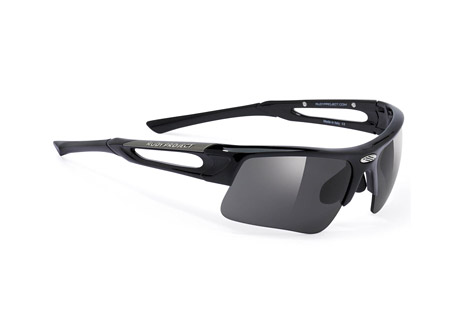 Rudy Project Exowind Sunglasses - black gloss/smoke black, regular fit