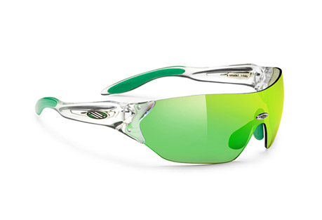 Rudy Project Hypermask Sunglasses - crystal/multilaser green, regular fit