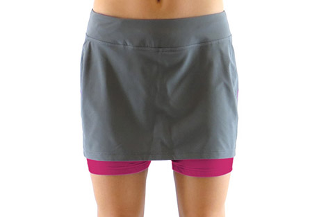 ryka pursuit running skirt - womens- Save 76% Off - Cute and sporty, the Pursuit Running Skirt from Ryka Activewear.  Features:  - Poly/Spandex blend in a running skirt style  - Built in short liner with pocket  - Wide, stretch waistband, moisture wicking and stretch will keep you cool and comfortable  - Machine wash cold, gentle cycle, tumble dry low  - Do not use softener or bleach