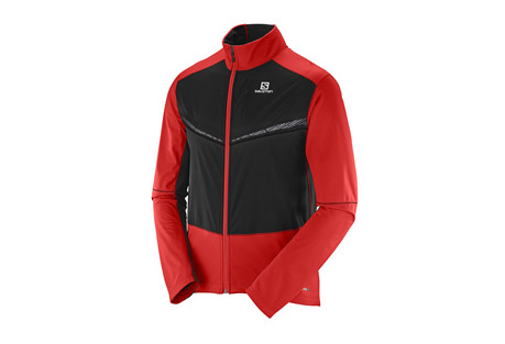 salomon equipe vision ss jacket - men's- Save 46% Off - Ideal for dark winter days running or nordic training, the Equipe Vision Softshell jacket combines great mobility and ventilation with reflective visibility.  The front panel blocks wind to keep you warm, while the back panel allows ventilation and is made of stretch fabric to move with you.  Reflective elements keep you visible from all angles.  Features:  - Advanced Skin SHIELD Technology protects you against wind and snow to help prevent chills, while maintaining breathability to maintain a constant body temperature.  - Softshell 3L  - Articulated sleeves  - Stretch cuffs  - Ergonomic full front zip  - Stretch back panel  - 1 zip chest pocket  - 1 back pocket  - Adjustable hem  - 360deg reflective  - Last Chance:  Discontinued Style