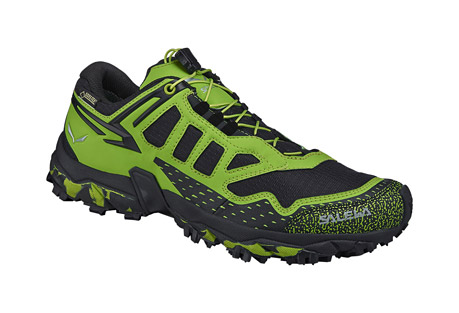 salewa ultra train gtx shoes - men's- Save 34% Off - The Ultra Train is specifically designed for mountain training, a new product concept from SALEWA. Developed in partnership with MICHELIN(R) Technical Soles, the design is focused on excellent traction and stability. The aggressive lugged outsole ensures perfect traction, so you can concentrate on your training and enjoy the mountains, whether rapid hiking, long-distance technical trail running or uphill interval training. The shoe is built around MICHELIN(R)'s Ultra Train outsole, which was developed exclusively with SALEWA. Its special Outdoor Compound has a sculpted and grooved design, inspired by mountain biking tires, that works with the midsole's Motion Guidance technology to support the foot's natural movement on uneven terrain. In addition, Adaptive Eyelets and SALEWA's 3F Total System add support to the mid foot by extending the 3F System into the lacing area. This increases stability and ensures a more precise wrapping fit.  Features:  - The sole and midsole are developed in synergy to support the natural movement of the foot and provide excellent sure-footedness over any terrain.  - 3F Total System provides additional support to your foot by connecting the 3F System to your shoe's lacing area. This connection ensures optimal comfort, stability and increases foot control where needed.  - Adaptive eyelets increase the overall wrapping fit and comfort of the mid-foot.  - Breathable mesh upper  - Image of sole shown in alternate color