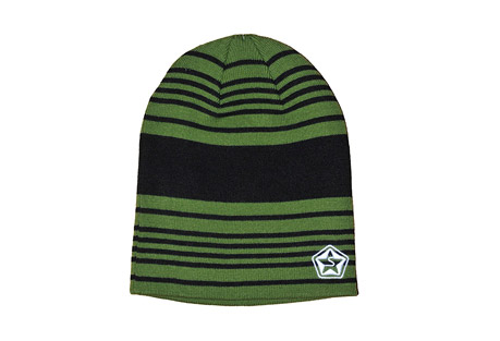 Sessions Heather Stripe Beanie - Mens - olive heather stripe, one size