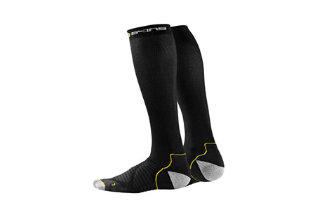 skins lightweight compression run socks- Save 60% Off - SKINS Compression Socks Size Chart  Unlike normal athletic socks, SKINS gradient compression socks are the perfect performance enhancer for any activity where your legs are pushed to the limit. SKINS Engineered Gradient Compression offers targeted calf muscle support and improves circulation, delivering more oxygen to your active muscles.  Features:  - 48% Polyamide Nylon - 29% Polyamide Microlon - 10% Elastane - 9% Polyester - 4% Polyamide  - Durable quality: High quality yarns for consistent, controlled compression and advanced durability  - Stay dry: Superior moisture management keeps you dry  - Protection: Special anti-chafing yarn reduces heat, moisture, friction and the risk of blisters  - Ultimate comfort: Soft fall cushioning absorbs shock and enhances comfort. Smooth, comfortable toe seams reduce friction & anatomic left and right construction for a comfortable fit