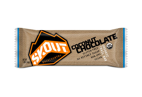 skout backcountry chocolate coconut trailbar - box of 12- Save 35% Off - The unsweetened dark chocolate in this delicious Trailbar brings a great source of flavonol antioxidants. In addition to making a great pairing with chocolate, coconut also brings an abundance of vitamins and minerals. The dates, oats and almonds give the Trailbar a superior texture as well as add numerous health benefits.  Features:  - Certified Organic  - Certified Gluten Free  - Non-GMO Project Verified  - Naturally Occurring Nutrients  - No Refined Sugar or Fillers  - Certified Kosher  - Vegan  - Dairy & Soy Free