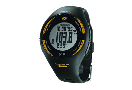 soleus gps pulse + hrm watch- Save 65% Off - Keep racing with the Soleus GPS Pulse wrist-based heart rate monitor. The GPS Pulse measures your heart rate while on your wrist, no need for a chest strap. The rechargeable unit allows you to customize 3 view-able lines of data that track your speed, distance, pace, and heart rate. Set up to 6 interval timers, count calories, and store and review your date for later review.  Features:  - GPS: High-sensitivity receiver  - Distance: Current / total miles or kilometers  - Pace / Speed: Current / average in mph or kph  - Heart Rate Monitor  - Optical Sensor: Wrist based heart rate sensor  - HRM Zones: Personalized heart rate setting  - 6 Interval Timers: Set of individual training timers  - Calories Burned:  Current / total kcal  - Auto-Lap: Detects mile splits automatically  - Data Upload: Upload via integrated USB  - Data Storage: 100 lap memory  - Large Digits: Easy to read display at a glance  - Chronograph: 1/100 second accuracy  - Rechargeable Battery: Lithium-ion recharge via USB  - EL Backlight: Soft glow for low light conditions  - Night Mode: Always-on safety glow  - 30m Water Resistant  Dimensions:  - Case Height: 45mm  - Case Width: 45mm  - Case Depth: 16.5mm  - Strap Width: 21mm  - Weight: 2.0 oz.