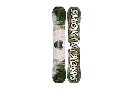 smokin snowboards annialator (atx) snowboard- Save 39% Off - The AnNIALator (ATX) from Smokin Snowboards is available at member-exclusive pricing for a limited time only. Shop now or miss out forever!  Inspired and Designed by Nial Romanek with an Awesymmetrical sidecut, Nial's own tip design and custom flex pattern coupled with Nial's preferred ATX Flat Camper Profile.  Features:  - ATX- Totally flat from contact to contact  - True twin-symmetrical shape  - 3 Stage Dampening- absorbs vibrations caused by changing snow conditions  - Blunt tips  - VDFLU- Variable Density Fiberglass Layup, enhances control capabilities   - Magne Traction  - Sintered 6k Bases- The hardest, toughest bases available, 1/3 thicker than the industry standard.   - Good Wood- Environmentally conscious manufacturing