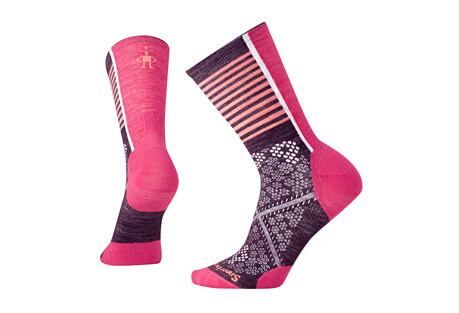 Smartwool PhD Cycle UL Pattern Crew Socks - Women's
