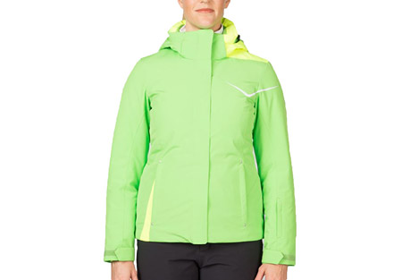 spyder amp jacket - women's- Save 33% Off - Spyder's Amp Jacket brings energy to the slopes with a maximum charge of 3M(TM) Thinsulate(TM) Insulation. Its ample 10k/10k waterproof breathable rating, removable hood, critical seam taping, powder skirt and internal pockets will energize your ski day.  Features:  - Removable hood  - Critical seams taped  - Zippered hand pockets  - Brushed microfiber inner collar  - Polyester Stretch Twill with Xt.L(TM) 10k/10k Laminate and Spylon+(TM) DWR  - 3M(TM) Thinsulate(TM) Insulation (100g)