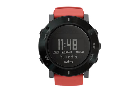 suunto core crush watch- Save 30% Off - Dynamic by design, powered by adrenaline. Choose a color that reflects your style and wrap an altimeter, barometer and a compass around your wrist with the smooth and light silicone strap of Suunto Core Crush. It is the outdoor sports watch packed with spirit of adventure.  Features:  - Altimeter, barometer, compass  - Weather functions  - Mountain & everywhere use  - Altimeter  - Barometer  - Compass  - Temperature  - Storm alarm  - Sunrise / sunset  - Depth meter for snorkeling  - Multiple watch, date and time functions  - User-replaceable battery  - Multilingual menu (EN, FR, DE, ES)  - Bezel material: Steel  - Lens material: Mineral crystal  - Case material: Composite  - Strap material: Silicone  - Water resistance: 30 m (according to ISO 6425)  - Battery life in time mode: 12 months  - Battery type: CR2032  - Measurements: 1.93  x  1.93 x  0.57