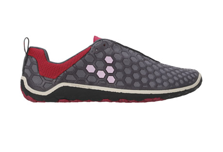 vivo evo ii shoes - womens- Save 70% Off - Introduced in 2010, the Evo put VIVOBAREFOOT on the performance map. Years later it is still the must-have multi-terrain barefoot product for your collection. The hexagon shaped, soft abrasion-resistant PU cage and hydrophobic mesh upper not only look great, but provide extra protection and breathability. The ultra-thin, puncture-resistant, rubber outsole offers maximum proprioception with protection, and the anatomic shape of the shoe allows the toes to splay and the foot to move naturally. Designed as one the most versatile performance products, if there is one shoe to have, this is it.   Features: - Upper: - Hex Flex Cage: Soft abrasion resistant PU cage for extra structure and protection with breathability. - Lacing: - Lace-up System: Fasten securely with simple tie-up lace. - Collar/Panel & Lining: - Hydrophobic Mesh: Non-toxic, breathable, lightweight, water-resistant thin mesh. - Insoles: - Removable: 3mm Pressed EVA Insole for additional thermal protection when necessary. - Insock: - Removable: 5mm Pressed EVA Insole for additional thermal protection when necessary. - Sole Construction: - Multi-Terrain: Soft, high abrasion, rubber, ultra-thin sole designed with hex-flex directional grip control and a patented, puncture resistant layer. - Outsole Thickness: - 5mm: Offering maximum proprioception with protection on a multitude of surfaces. - Weight: - 158g/5.6oz - Eco Credentials: - 100% Vegan; Soles made from recycled rubber; Dri-lex performance lining with environmentally sustainable Sorona yarn.