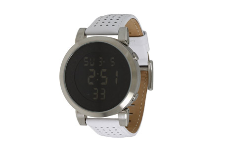 Vestal Digital Doppler Watch - white/silver/burshed, large wrist