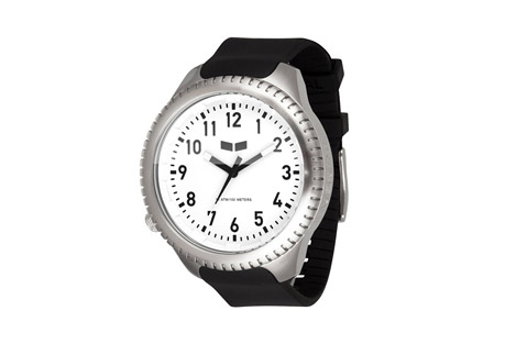 Vestal Utilitarian Watch - black/silver/white, medium wrist
