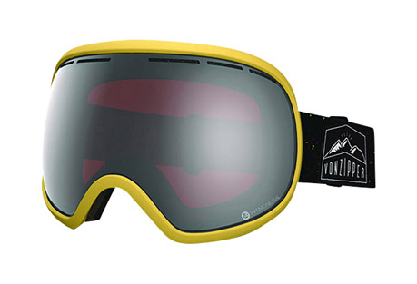 vonzipper fishbowl goggles- Save 46% Off - The biggest fish in the pound the Fishbowl is at the top of the goggle food chain. Fishbowl will remain comfortable and flexible in all snow conditions so you can be a fresh fish.   Features:  - Frame Color: Soft Yellow Satin  - Lens Color: Persimmon Chrome  - Ergonomic frame design  - Thermopolyurethane injection molded frame  - 100% UV Protection  - Supersized Dual Spherical Polycarbonate lens  - Maximum peripheral vision  - Polar fleece lined triple density face foam  - Oversized dual adjustable strap  - Helmet Compatible