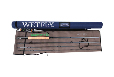 wetfly element se 5wt fly fishing rod- Save 40% Off - Wetfly Element SE fly rods are designed to offer the best in performance and price in fly fishing. This rod can easily be compared to rod x2 and x3 the price! The fast-action taper improves accuracy while allowing the angler to deliver flies with fewer false casts in challenging conditions. Pac Bay Minima guides and Channel Lock reel seats add to the durability and performance of these rods. Grade AAA cork handles on all rods. Complete with sturdy Cordura rod tube and cloth rod sock. All Wetfly rods come with an Unconditional Lifetime Warranty.   Features:  - Fast-Action Taper for Accuracy, Distance, and Quick Delivery  - 4-Piece Construction, Easy Pack  - Saltwater-Safe, Hard-Anodized, PACBAY Channel Lock Aluminum Reel Seat  - Nylon Hard Case and Cloth Rod Sock Included