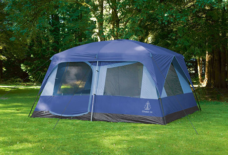Woods Chalet 10 Person Tent - blue, 10 person