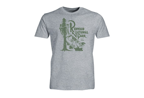 Show your favorite national park some love with a super-soft, vintage-inspired tee. Home to the tallest trees on earth, you'll find redwoods at this national park that would tower over the Empire State building, more than 360 feet, and 2,000 years old. Wow. Worth a visit, right? Features: - Crew neck - Casual, comfortable fit - Front chest graphic - 85% Cotton 15% Viscose