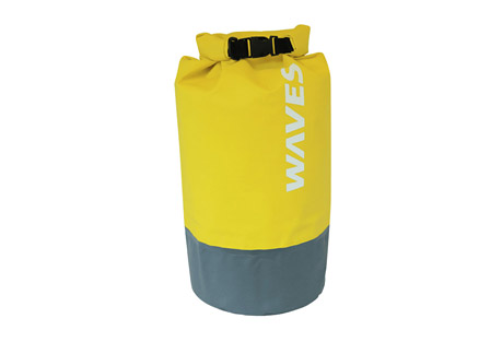 waves gear infinite dry bag- Save 44% Off - Keep your gear safe and secure from the elements with the Waves Infinite Dry Bag. Easy roll-top closure and thermal heated seams provide complete waterproof protection. Durable and rugged 500D PVC is odor and stain resistant. An adjustable and removable shoulder strap, side handle and D-rings provide various ways to carry and tie down. Perfect for boating, kayaking, paddleboarding, rainy weather, beach days, and the list goes on.  Features:  - Capacity: 30 Liters  - Empty Weight: 1lbs 4 oz  - Closed Dimension: 9.5